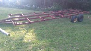 Trailer Frame 24 feet by 6 feet.