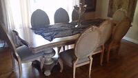 VICTORIA DINING SET VENEERS SOLD WOOD FURNITURE LIKE NEW