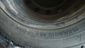 Winter Tires 195/60R15 comes with rims Kitchener / Waterloo Kitchener Area image 1