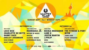 Electric island LABOUR DAY 2 DAY TICKET
