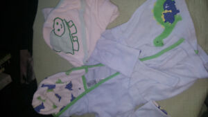 0-9 month robe and hooded bath towel