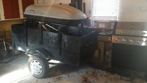 Small Utility Trailer with Sports Rack