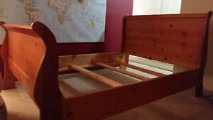 Bed Frame (Wooden Sleigh Style)