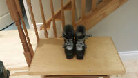 Black and Grey Techno Pro T45 ski boots
