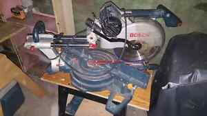 Bosch 12inch sliding double compound mitre saw London Ontario image 2