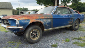 wanted 1967 or 1968 ford mustang coupe for project
