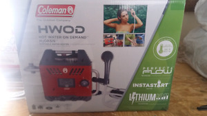 New in box Coleman hot water on demand