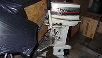 20 HP AND 5 HP JOHNSON OUTBOARD MOTORS PLUS
