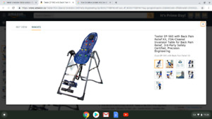 Inversion Table brand new