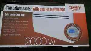 quality craft convection heater with built in thermostat BNIB!