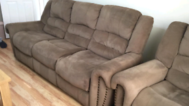 3 Seater Reclining Sofa Set ( 3 Seater and 2 Reclining Chairs)