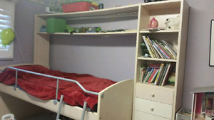 Bedroom set with bunk beds (1 is a trundle )