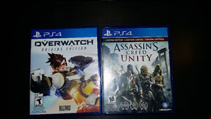 Selling overwatch and Assasins Creed Unity for ps4