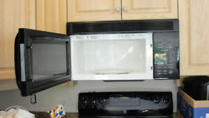 LG OVER THE STOVE MICROWAVE/HOOD FAN