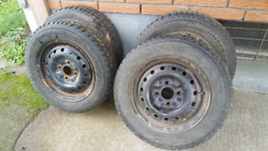 Studded tires with rims