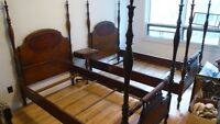 1930's FOUR POSTER (1 BED) TWIN Bedroom Set