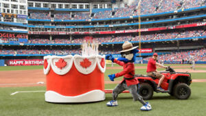 ** Urgent Must Sell** Blue Jays Canada day Aisle Seats