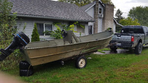 18' steel boat great for duck hunting or fishing