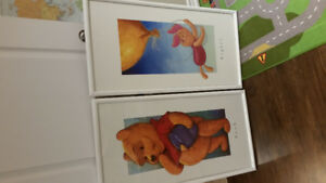 Walt Disney Winnie The Pooh and Piglet, Framed pictures.