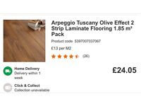 9 packs of Tuscany olive effect laminate floor