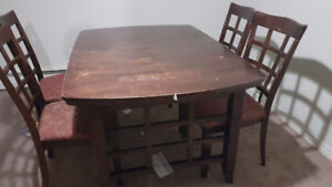 free dinning set and couch