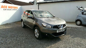 2011 NISSAN QASHQAI 1.6 2WD ACENTA 5 DR SUV, ONLY 69000 MILES WARRANTED.