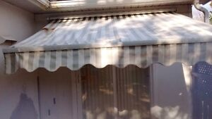AWNING GOOD SHAPE, NEED GOOD CLEANING