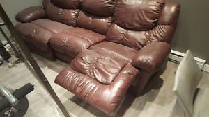 Sofa 3 places inclinable
