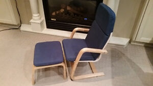 Ikea children's chair and ottoman