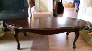 Coffee table,hutch,end tables, table and chairs