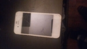 unlocked white 4s cracked screen works great