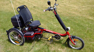 West Coast Import, Candy Apple Red Delta 1 Adult Electric Trike