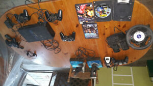 Sony Playstation II, Controllers,  Games and more