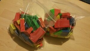 Two large bags of clean wooden blocks $10