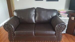 Leather look Love Seat
