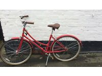 Red Bronx Road Bicycle Bike Vintage Retro Inspired with Wicker Basket