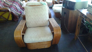PAUL FRANKL RATTAN FURNITURE FROM THE 60'S