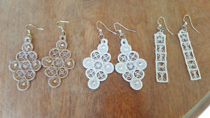 Embroidered earrings for sale