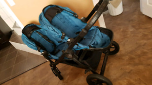 City select double stroller teal