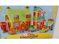 Brand new in box happyland ready to play village set paid £60 asking for £55