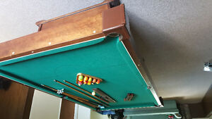 4' x 8' pool table with accessories