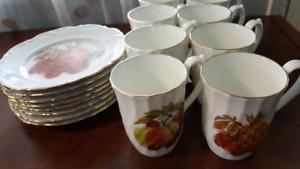 Vintage Coffee Mugs & Plates