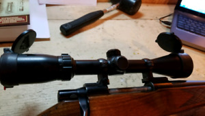 Bushnell 3x9x50mm scope with B.C. caps