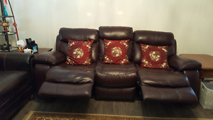 Brand New All Leather Sofa and Lazy Boy