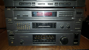 Retro jvc component stereo system