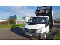 2010 10 PLATE FORD TRANSIT 100 T350M TIPPER PICK UP