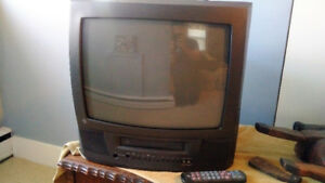 "18""  TV with Built-in VCR player"