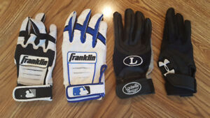 4 - Batting gloves, right hand size M