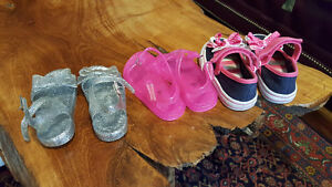 3 girl sandals and shoe - all size 5