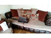 Leather sofa, couch 3 seater